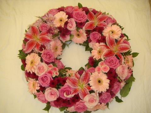 123couronne de fleurs fun raires couronne fleurs - Modele couronne de noel ...