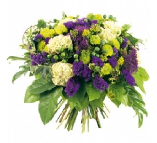 bouquet avec lisanthus violet.