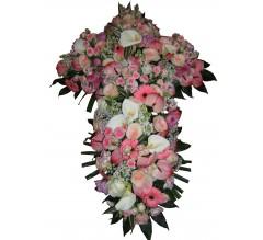 croix de fleurs funérailles.