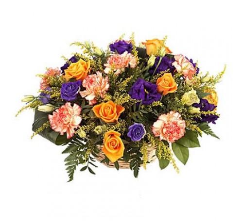 Petit coussin de fleurs.