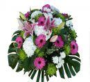coussin fleurs funérailles à Gleizé