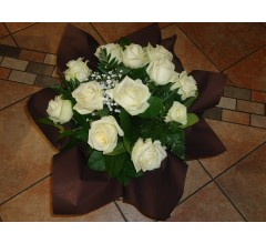BOUQUET DE ROSES BLANCHES  ref BRB 02