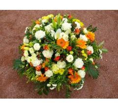 Coussin de fleurs pour funérailles.