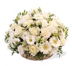 Envoi de fleurs au Funérarium des Batignolles 75017 Paris. COURONNE  DE FLEURS OBSEQUES