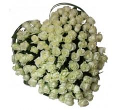 Coeur de fleurs crématorium de Bron