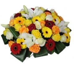 Coussin de fleurs décès.