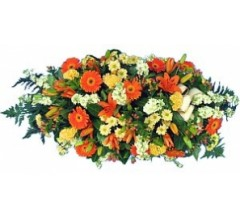 Raquette de fleurs pour funérailles